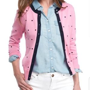🆕Crown & Ivy Pink Polka dot Button front Cardigan